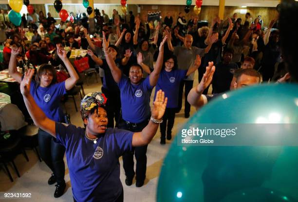 Tyissha JonesHorner of Dorchester the Administrative Director of Volunteer Programs with the Elderly Commission takes part in a flash mob with a...
