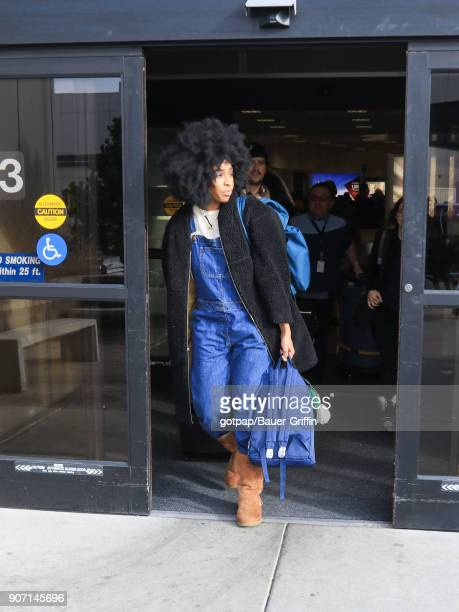Tyla Abercrumbie is seen at Salt Lake City International Airport on January 18 2018 in Park City Utah