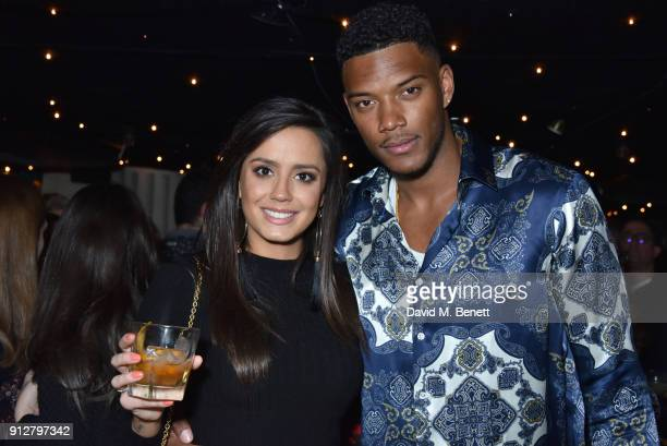 Tyla Carr and Theo Campbell attend Bunga Bunga Covent Garden's 1st birthday party on January 31 2018 in London England