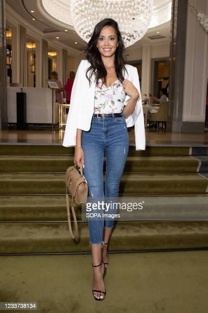 Tyla Carr attends afternoon tea at Corinthia Hotel London in aid of Breast Cancer Now hosted by Angie Greaves and Concorde Media.
