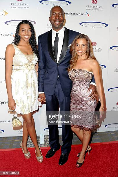 Tyla Salley guest former NBA player and radio host John Salley and Natasha Duffy arrive at the Sports Spectacular 28th Anniversary Gala at the Hyatt...