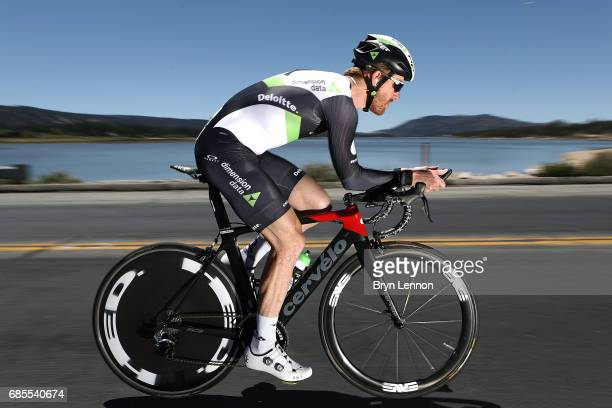 Tylar Farrar of the USA and Team Dimension Data in action during stage 6 of the AMGEN Tour of California a 149 mile individual time trial around Big...