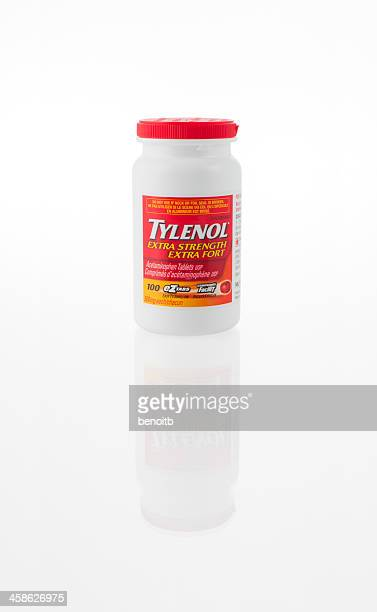 tylenol extra strength eztabs  tablets bottle - brand name stock pictures, royalty-free photos & images