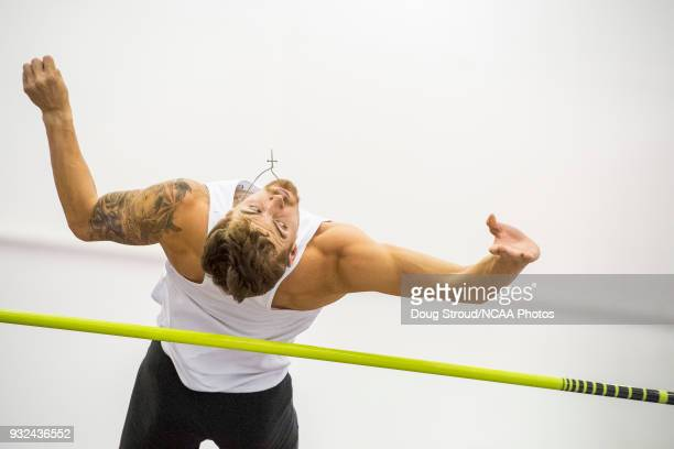 Tyler Adams of Sam Houston University competes in the high jump portion of the Heptathlon during the Division I Men's and Women's Indoor Track Field...