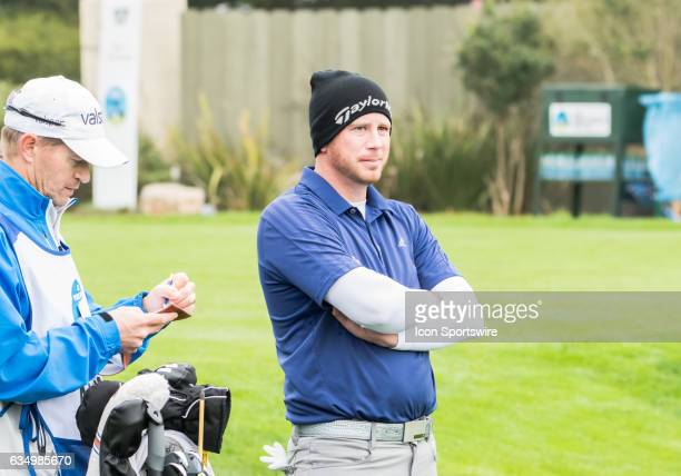 Tyler Aldridge waits for his partners during the second round of the ATT Pebble Beach ProAm in Pebble Beach CA on Friday February 10 2017