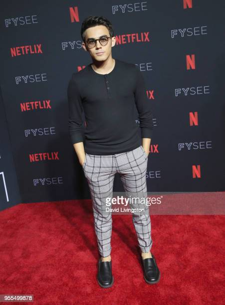 Tyler Alvarez attends the Netflix FYSEE Kick-Off at Netflix FYSEE At Raleigh Studios on May 6, 2018 in Los Angeles, California.