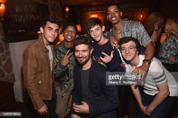 Tyler Alvarez DeRon Horton Cayleb Long Griffin Gluck Melvin Gregg and Bryce Earhart attend Netflix's 'American Vandal' Season Two Launch Party at...