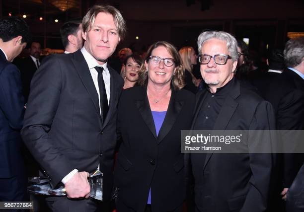 Tyler Bates, BMI Executive Vice President of Distribution, Publisher Relations & Administration Services Alison Smith, and Mark Mothersbaugh attend...