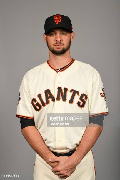 Tyler Beede of the San Francisco Giants poses during Photo Day on Tuesday February 20 2018 at Scottsdale Stadium in Scottsdale Arizona
