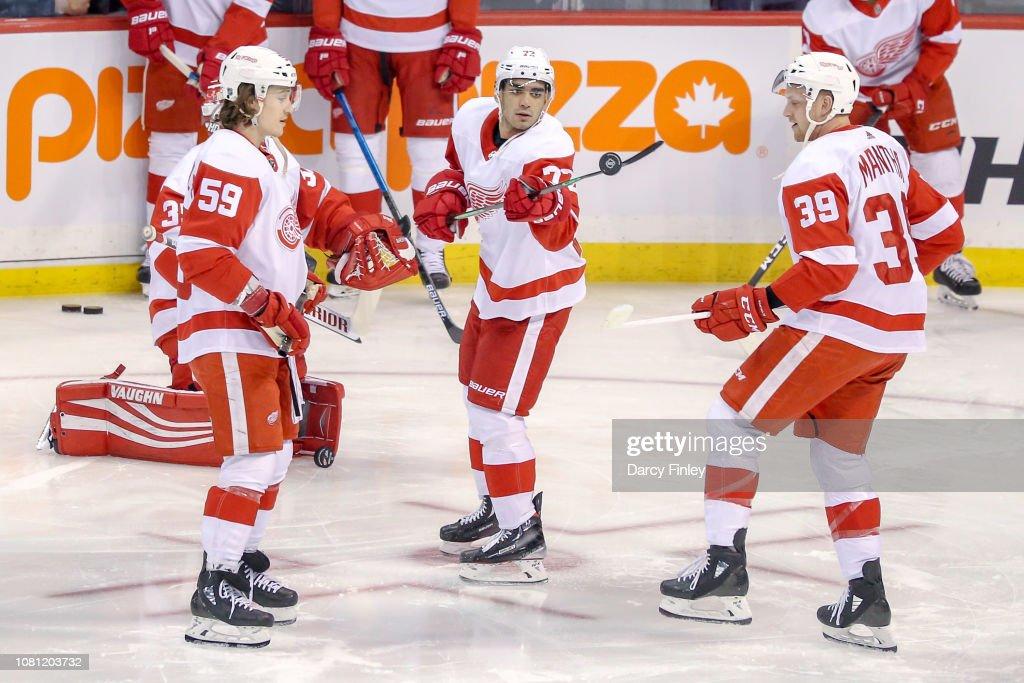 Detroit Red Wings v Winnipeg Jets : News Photo