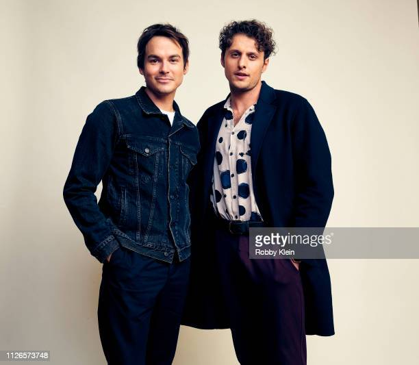 Tyler Blackburn and Michael Vlamis of The CW's 'Roswell New Mexico' pose for a portrait during the 2019 Winter TCA at The Langham Huntington Pasadena...