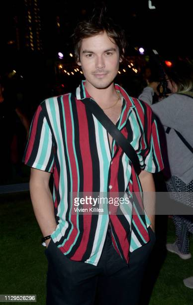 """Tyler Blackburn attends Entertainment Weekly + Amazon Prime Video's """"Saints & Sinners"""" Party At SXSW on March 9, 2019 in Austin, Texas."""