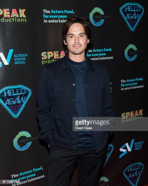 Tyler Blackburn attends the Hello Again New York premiere at Cinepolis Chelsea on November 6 2017 in New York City