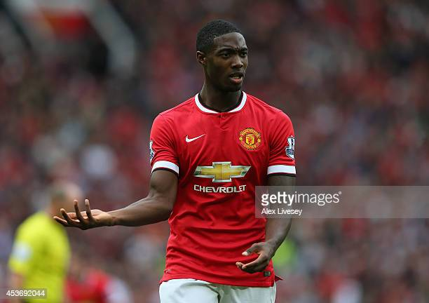 Tyler Blackett of Manchester United in action during the Barclays Premier League match between Manchester United and Swansea City at Old Trafford on...
