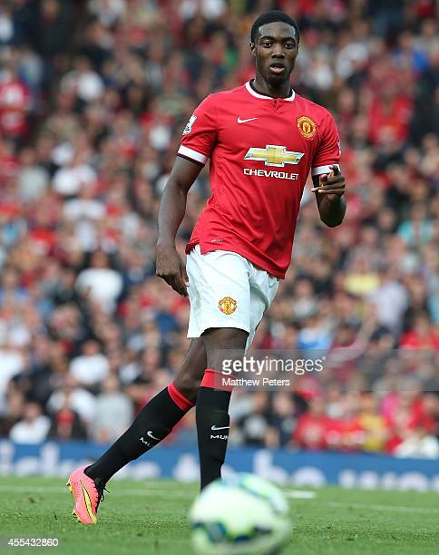 Tyler Blackett of Manchester United in action during the Barclays Premier League match between Manchester United and Queens Park Rangers at Old...
