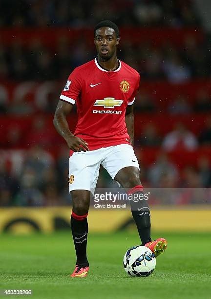 Tyler Blackett of Manchester United in action during the Pre Season Friendly match between Manchester United and Valencia at Old Trafford on August...