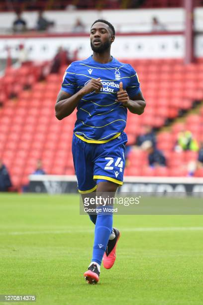 Tyler Blackett of Nottingham Forest during the Carabao Cup First Round match between Barnsley and Nottingham Forest at Oakwell Stadium on September...