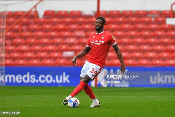 Tyler Blackett of Nottingham Forest during the Sky Bet Championship match between Nottingham Forest and Bristol City at the City Ground, Nottingham...