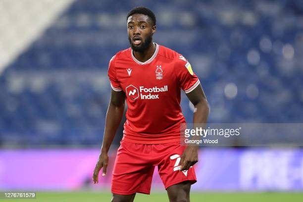 Tyler Blackett of Nottingham Forest during the Sky Bet Championship match between Huddersfield Town and Nottingham Forest at John Smith's Stadium on...