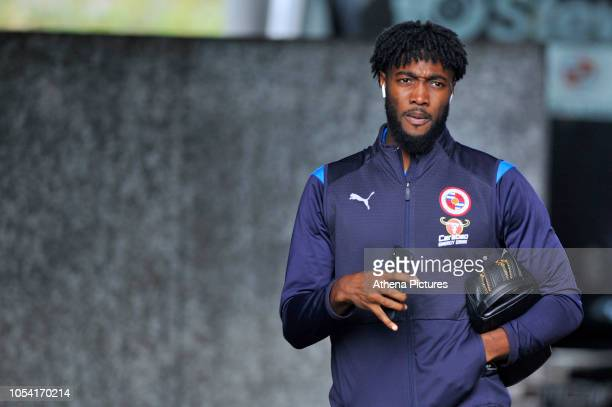 Tyler Blackett of Reading arrives prior to the Sky Bet Championship match between Swansea City and Reading at the Liberty Stadium on October 27, 2018...