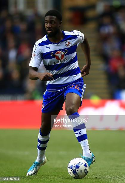 Tyler Blackett of Reading in action during the Sky Bet Championship Play Off Second Leg match between Reading and Fulham at Madejski Stadium on May...