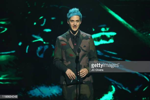 Tyler Blevins aka Ninja speaks onstage during The Game Awards 2019 at Microsoft Theater on December 12, 2019 in Los Angeles, California.