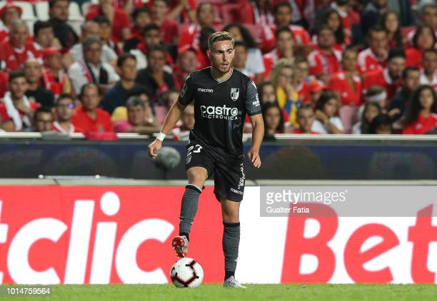 Tyler Boyd of Vitoria SC in action during the Liga NOS match between SL Benfica and Vitoria SC at Estadio da Luz on August 10 2018 in Lisbon Portugal