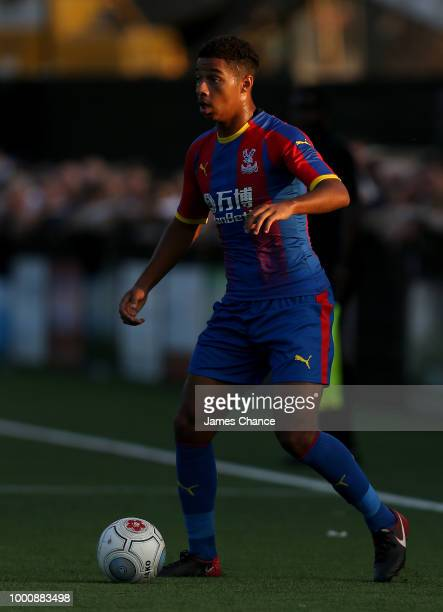 Tyler Brown of Crystal Palace runs with the ball during the preseason friendly match between Bromley and Crystal Palace on July 17 2018 at Hayes Lane...
