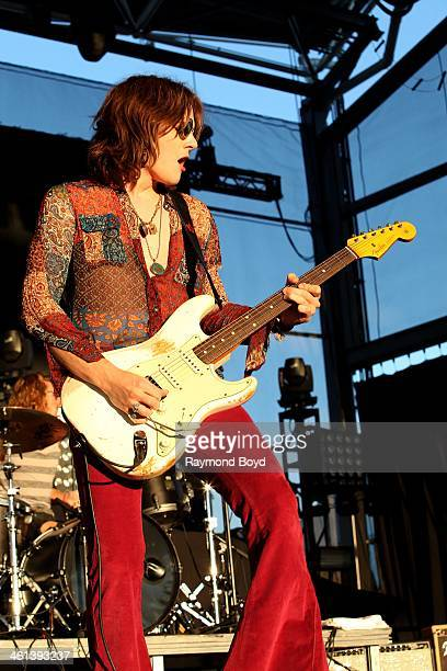 Tyler Bryant from Honey Grove Texas rock band Tyler Bryant The Shakedown performs on the BMO Harris Bank Stage at the Henry W Maier Festival Park...