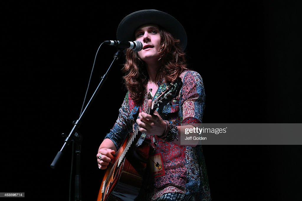 Tyler Bryant performs at The Greek Theatre on August 13, 2014 in Los Angeles, California.