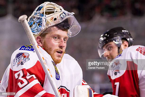 Tyler Bunz of Canada during the 2015 Ice Hockey Classic match between the United States of America and Canada at Rod Laver Arena on June 5 2015 in...
