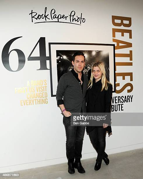 Tyler Burrow and Stefanie Skinner attend The Beatles 50 Year Commemorative Anniversary photo exhibit at Rock Paper Photo NYC Pop Up Gallery on...