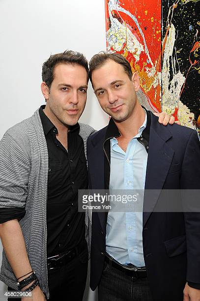Tyler Burrow attends Aelita Andre Exhibit Opening Night at Gallery 151 on October 28 2014 in New York City