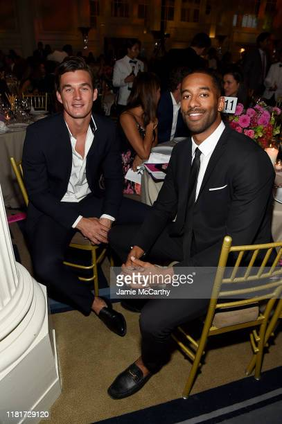 Tyler Cameron and Matt James attend the Hudson River Park Annual Gala at Cipriani South Street on October 17 2019 in New York City