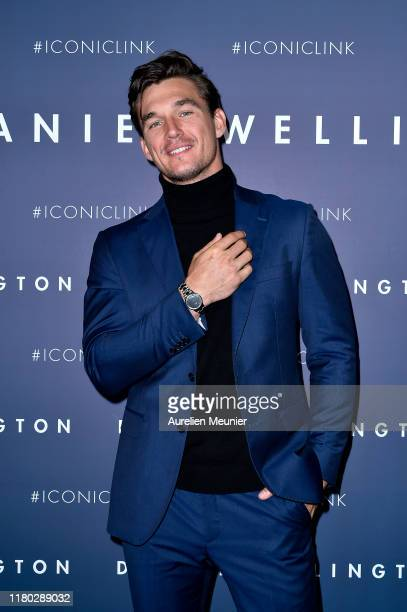 Tyler Cameron attends the launch of the Daniel Wellington new Iconic Link Watch Collection at L'imprimerie on October 10 2019 in Paris France