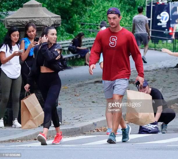 Tyler Cameron is seen in Central Park on August 14 2019 in New York City