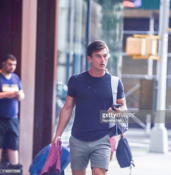 Tyler Cameron is seen outside gigi hadid home on August 21 2019 in New York City