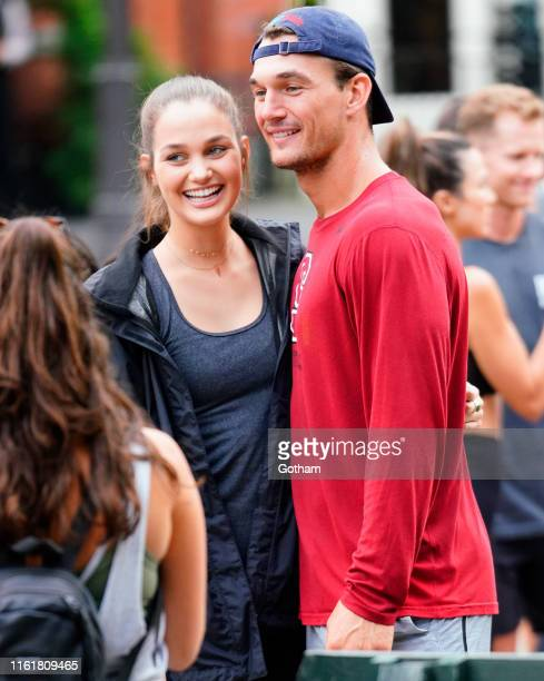 Tyler Cameron takes pictures with fans in Central Park on August 14 2019 in New York City