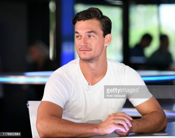 Tyler Cameron visits Extra at Burbank Studios on September 24 2019 in Burbank California