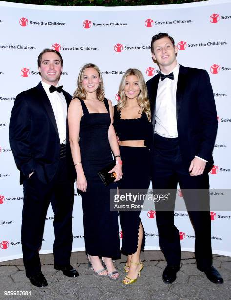 Tyler Carbone Emma Olcott Annabelle Kirk and Eric Spielvogel Attend the Save the Children Young Patron's Gala at Central Park Zoo on May 18 2018 in...