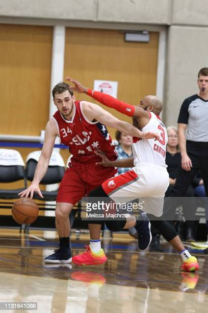 Tyler Cavanaugh of the Salt Lake City Stars makes his move against Jevon Carter of the Memphis Hustle on January 19 2019 in Taylorsville Utah NOTE TO...
