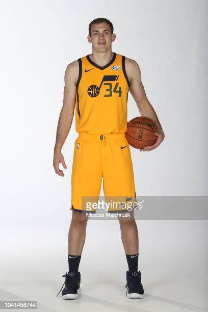 Tyler Cavanaugh of the Utah Jazz poses for a portrait at media day on September 24 2018 at the Zions Bank Basketball Campus in Salt Laker City Utah...