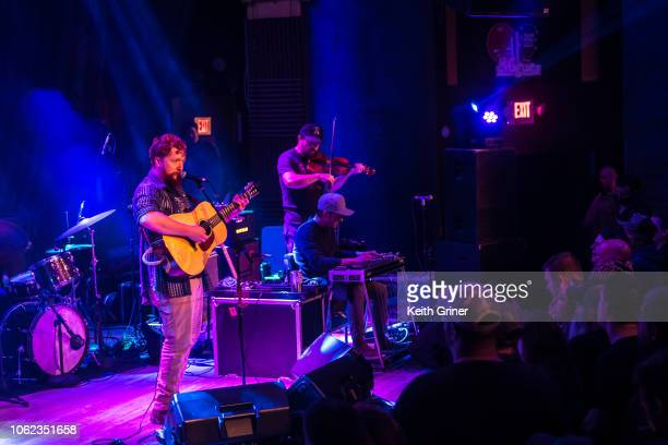 Tyler Childers performs to a sold out crowd at the Vogue Theatre on November 15 2018 in Indianapolis Indiana