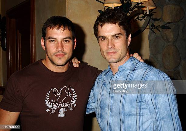 Tyler Christopher and Rick Hearst during General Hospital Fan Luncheon 2004 at Sportsmans Lodge in Sherman Oaks California United States