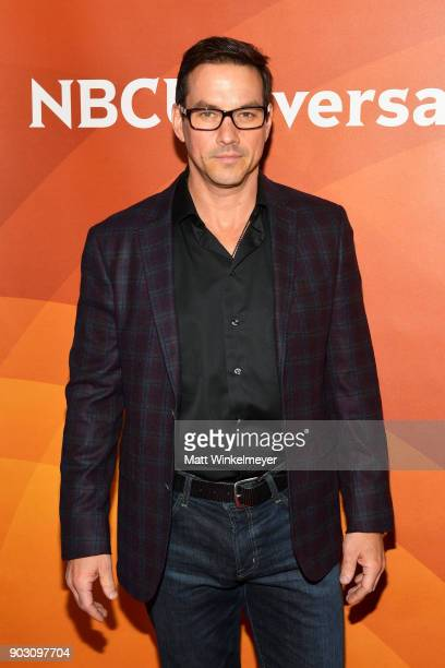 Tyler Christopher attends the 2018 NBCUniversal Winter Press Tour at The Langham Huntington Pasadena on January 9 2018 in Pasadena California