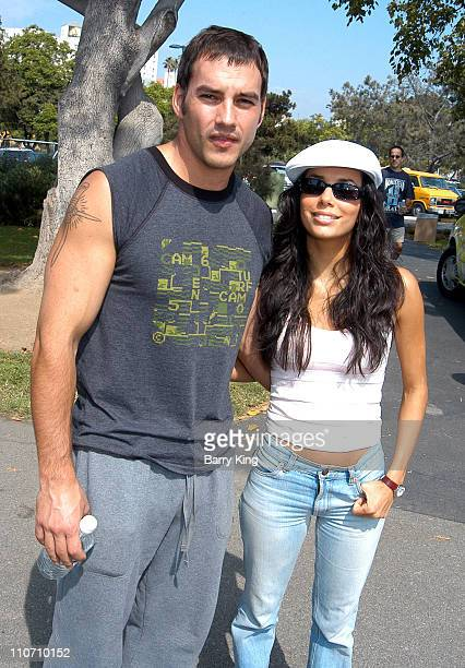 Tyler Christopher Eva Longoria at the 'Best Friends' Super Pet Adoption Festival at La Brea Tar Pits in Los Angeles California on October 5 2003