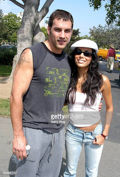 Tyler Christopher Eva Longoria at the 'Best Friends' Super Pet Adoption Festival at La Brea Tar Pits in Los Angeles California on October 5 2003...