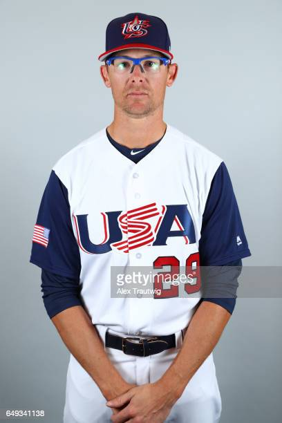 Tyler Clippard of Team USA poses for a headshot for Pool C of the 2017 World Baseball Classic on Tuesday March 7 2017 at Jet Blue Park in Fort Myers...