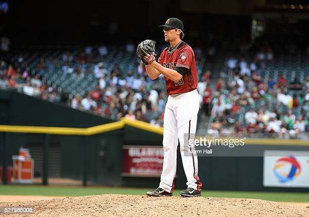 Tyler Clippard of the Arizona Diamondbacks delivers a pitch against the Colorado Rockies at Chase Field on May 01 2016 in Phoenix Arizona