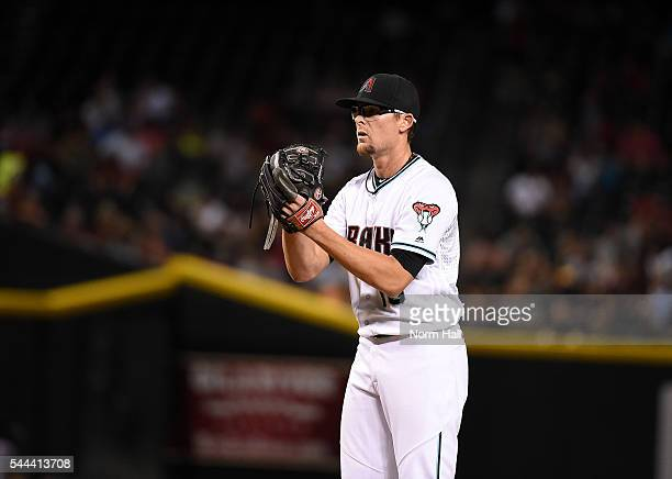 Tyler Clippard of the Arizona Diamondbacks delivers a pitch against the Philadelphia Phillies at Chase Field on June 28 2016 in Phoenix Arizona